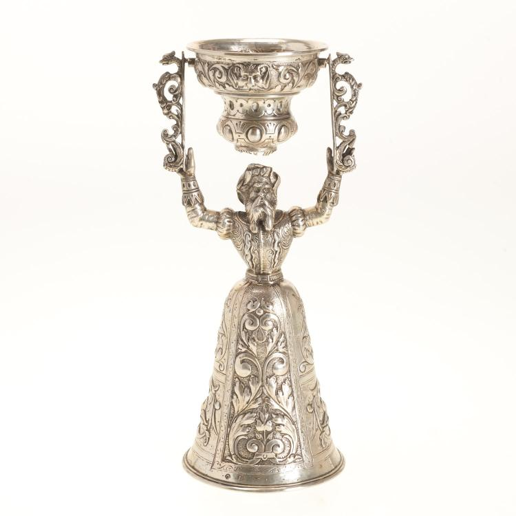 Continental silver marriage cup
