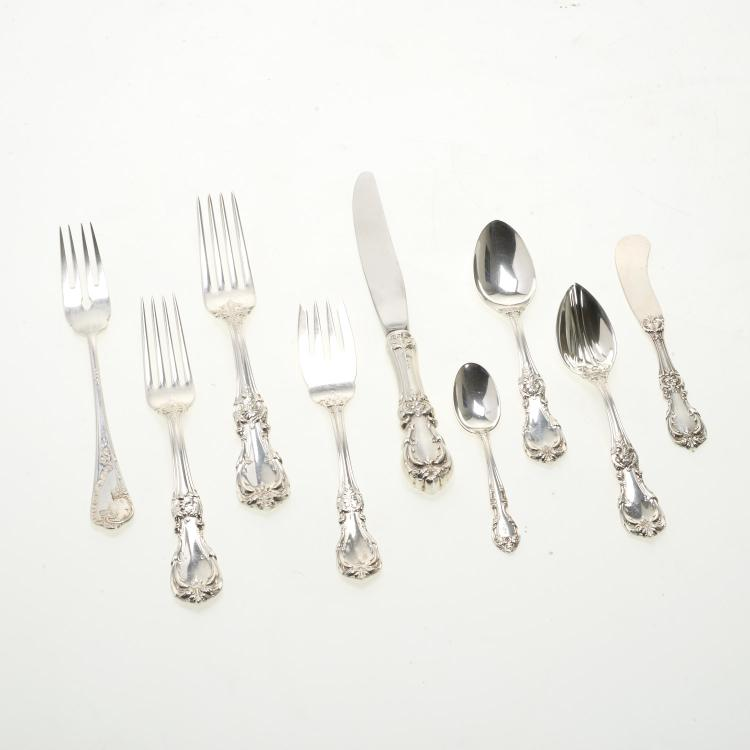 Reed & Barton Burgundy silver flatware set