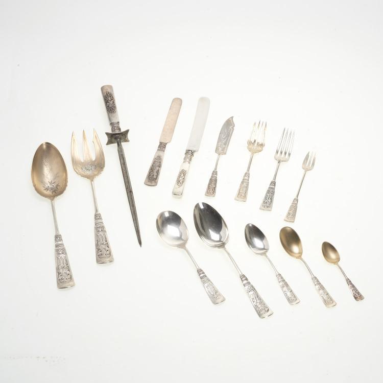 Gorham Fontainebleau silver flatware set