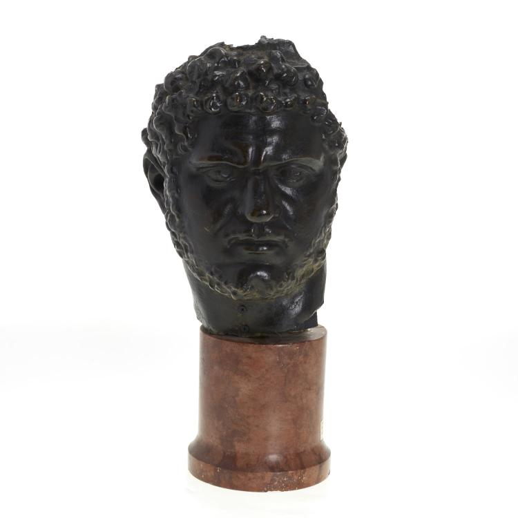 Italian School, patinated bronze bust