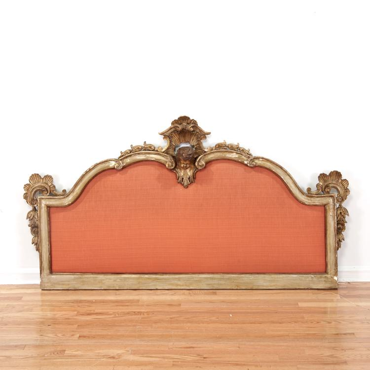 Italian Baroque style painted, giltwood frame