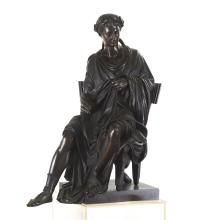 French Bronze figure of the poet Horace