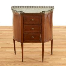 Louis XVI brass mounted mahogany side table