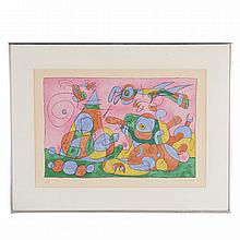Joan Miro, signed lithograph