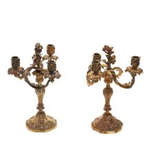 Pair Louis Xv style ormoulu candelabra