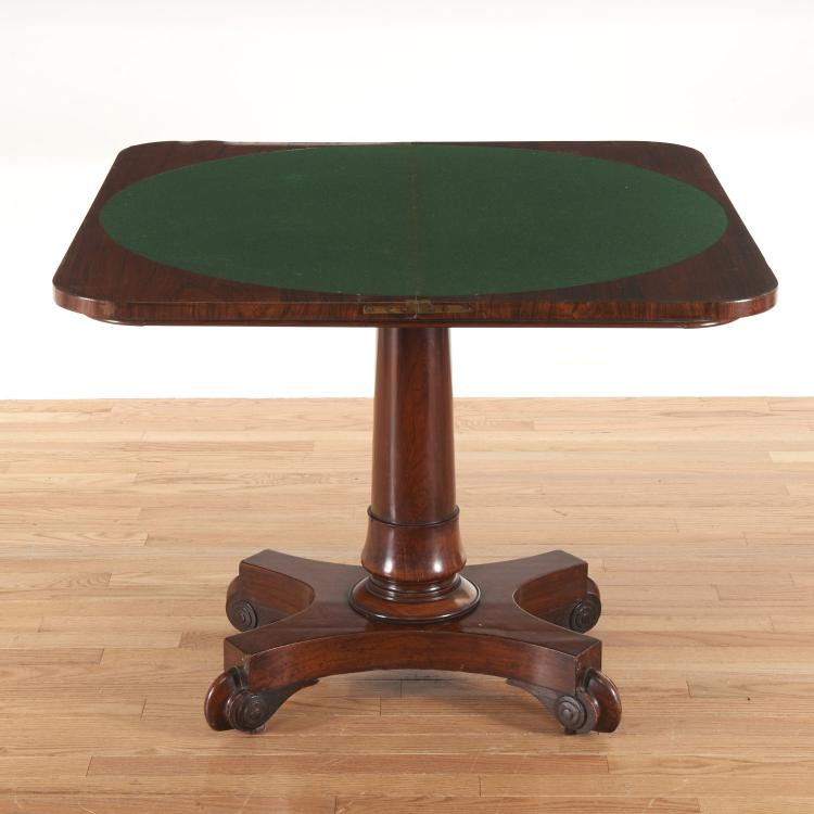 American Empire style mahogany card table