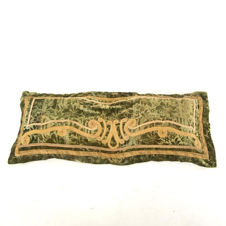 Antique Italian silk velvet pillow cover