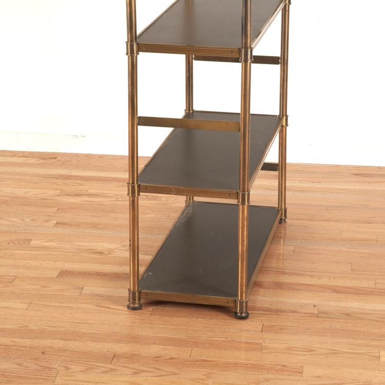 attr maison jansen brass ebonized wood etagere. Black Bedroom Furniture Sets. Home Design Ideas