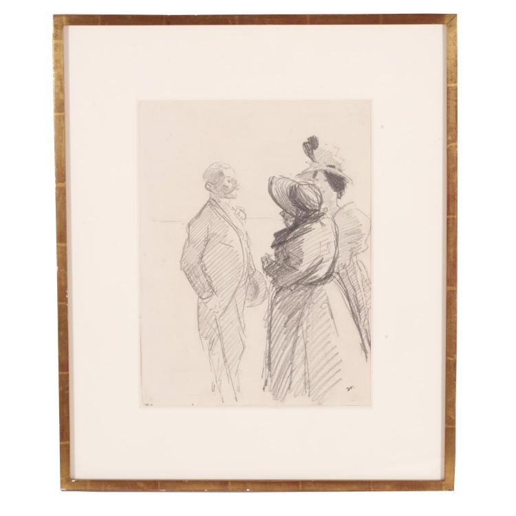 Theophile Alexandre Steinlen, drawing