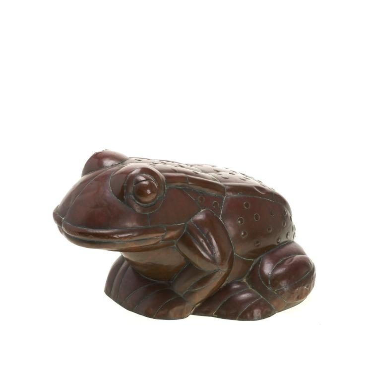 Large Sergio Bustamonte copper and brass frog