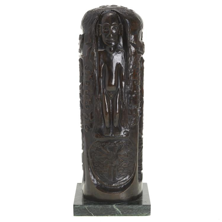 After Paul Gauguin, bronze totem