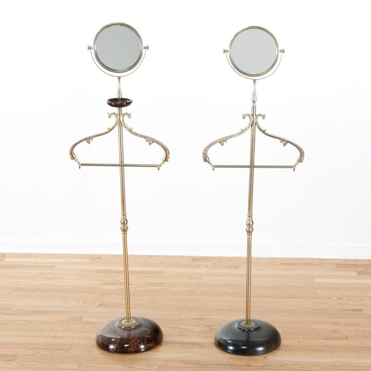 Aldo Tura lacquer, parchment valet/vanity stands