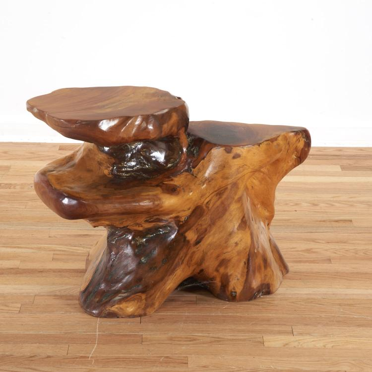 Japanese studio sculpted wood table