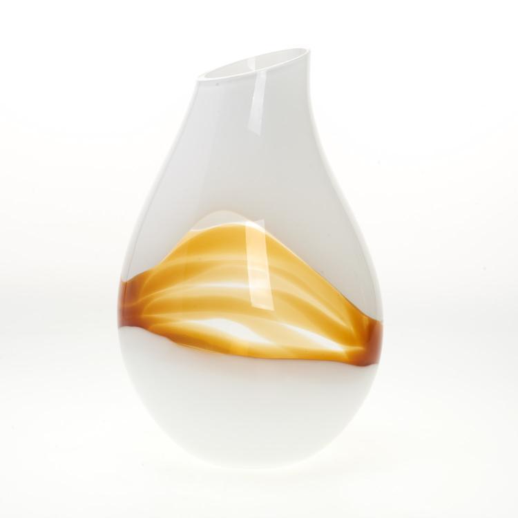 Livio Seguso Latticino glass vase