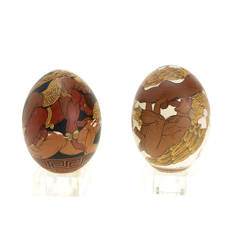 Yiannis Nomikos, homoerotic painted eggs