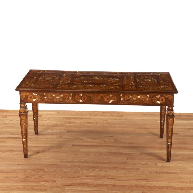 Nice Dutch marquetry inlaid writing table