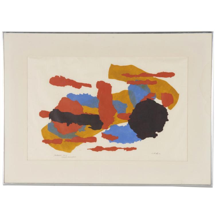John Von Wicht, colored stencil