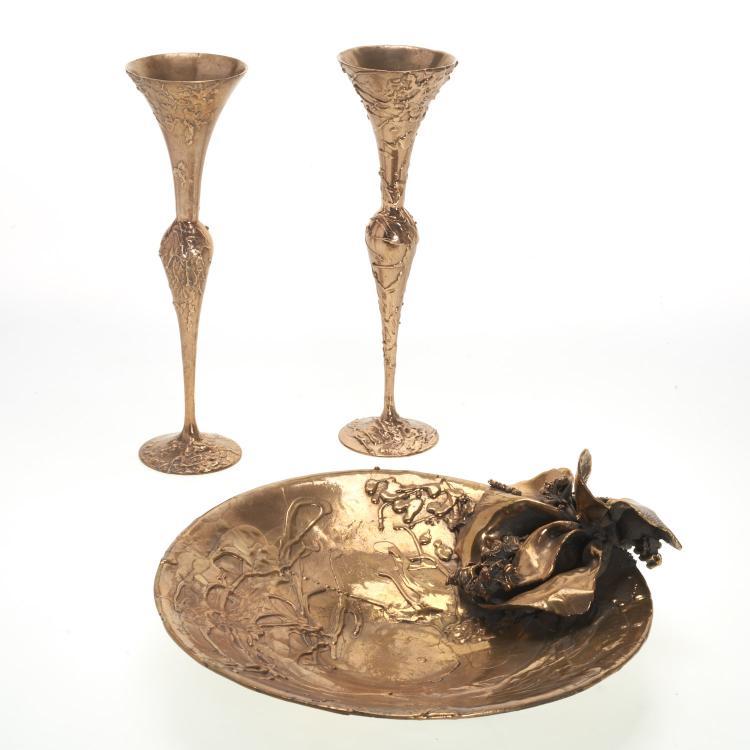 Ellen Brenner-Sorensen, (3) pcs. bronze garniture