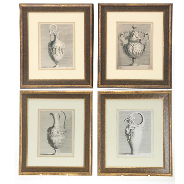 Pair Roman Antiquity engravings after Piranesi