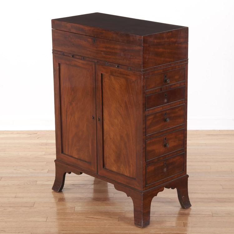 Rare George III mahogany davenport desk