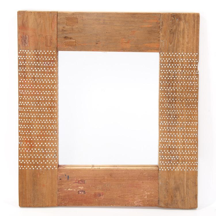 Moroccan style mother of pearl inlaid wall mirror