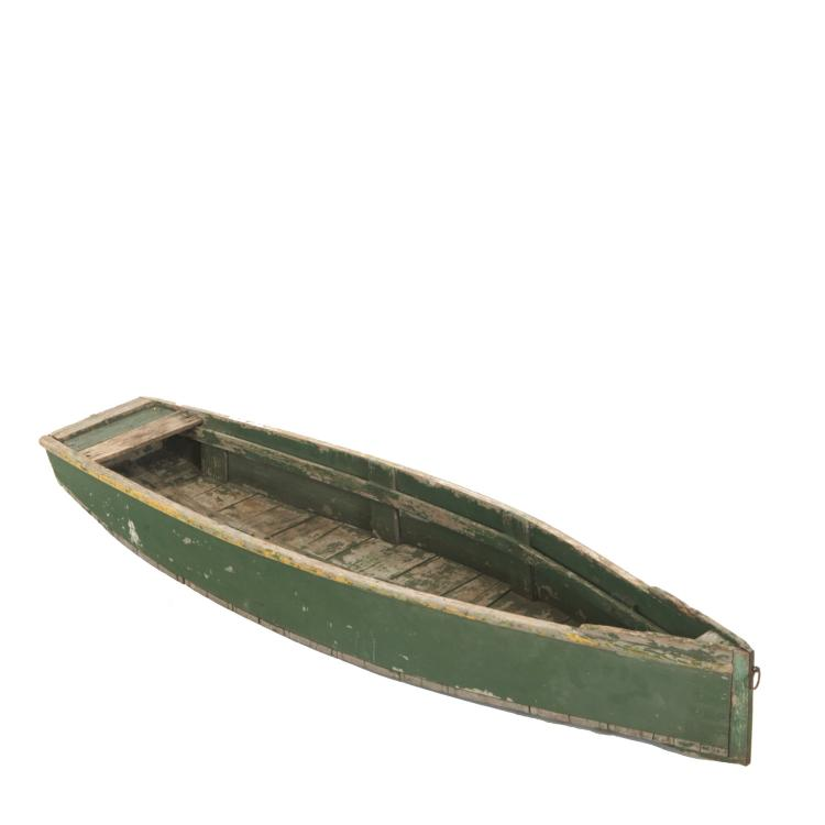 Antique American paint decorated hull model