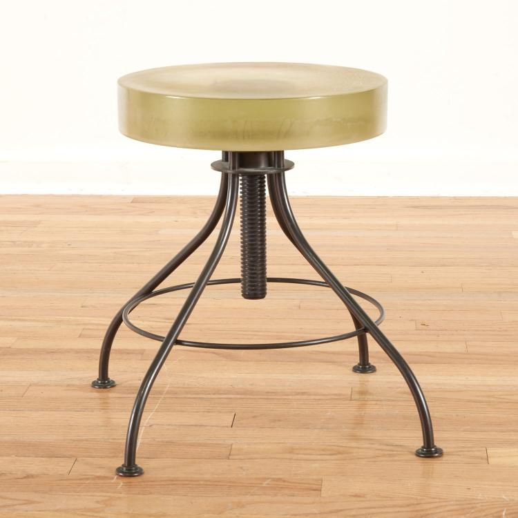 Alison Berger for Holly Hunt glass stool