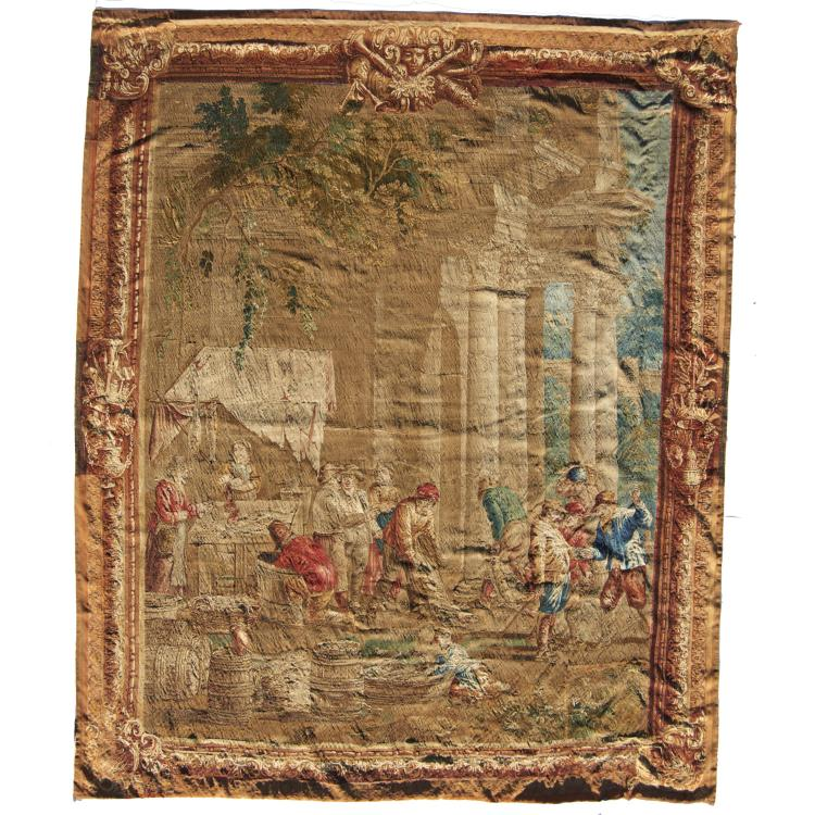 Large antique Brussels tapestry