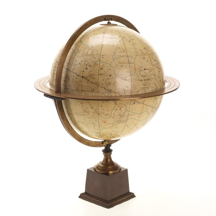 French celestial table globe by Charles Dien