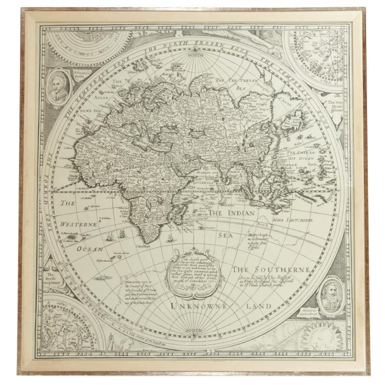 Large Continental northern world Celestial map