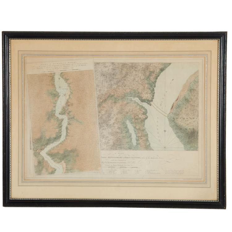 Map of Hudson River by Joseph F. Wallet Des Barres