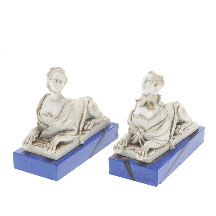 French white porcelain animorphic book ends