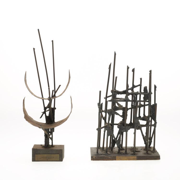 David Gould, (2) bronze sculptures