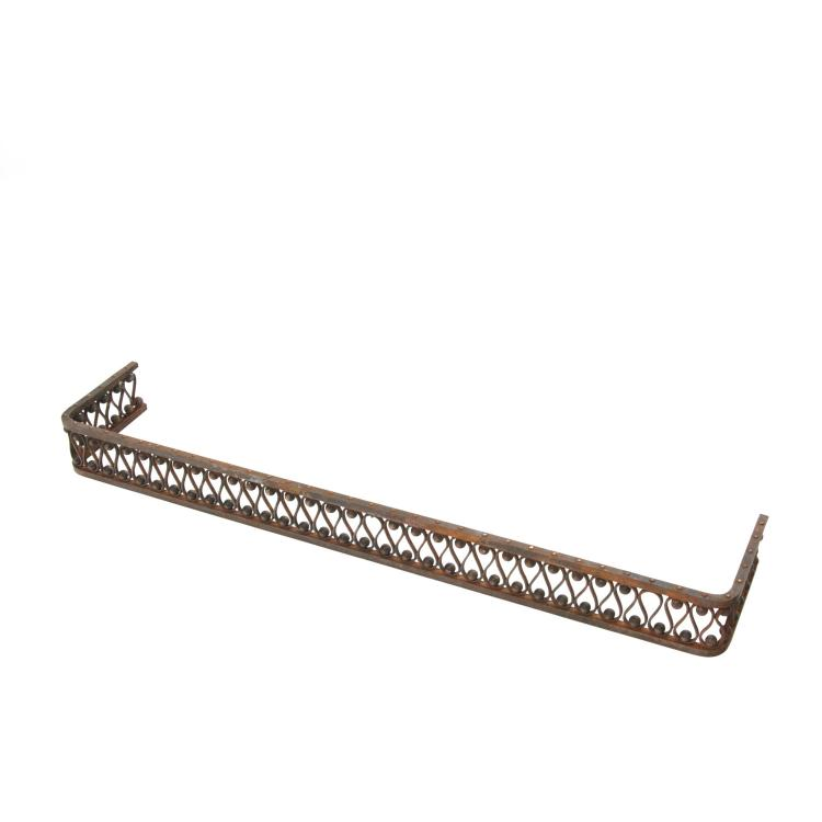 Jean Royere style iron fire fender
