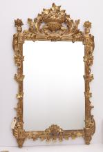 Neo-classical style giltwood wall mirror