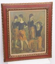 Moses Soyer, signed lithograph