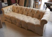 Style of Anthony Hail, style button tufted sofa