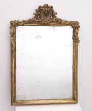 Continental carved giltwood wall mirror