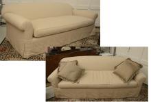 Pair Custom Designer sofas