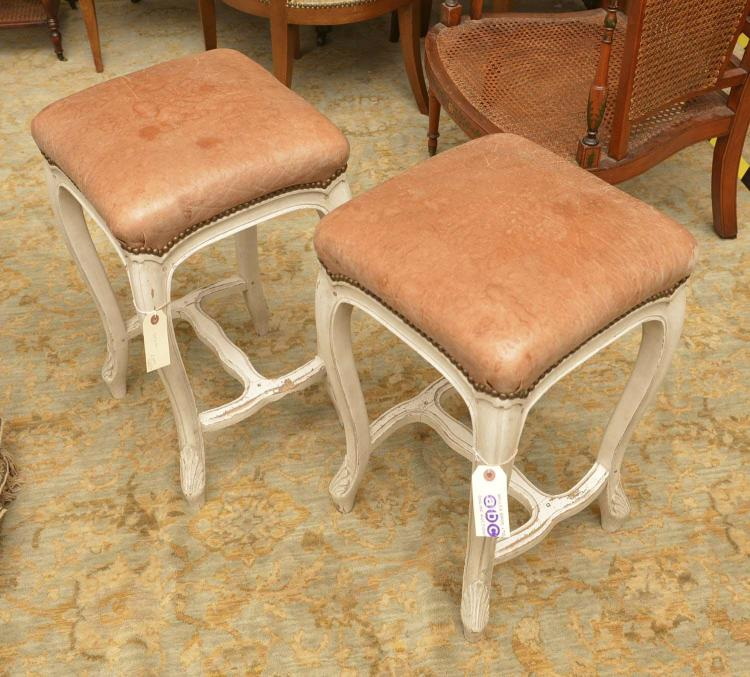 Pair Frederick P Victoria leather bar stools : H2037 L114817418 from www.invaluable.co.uk size 750 x 677 jpeg 86kB