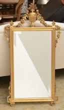 La Barge Neo-Classical style giltwood wall mirror