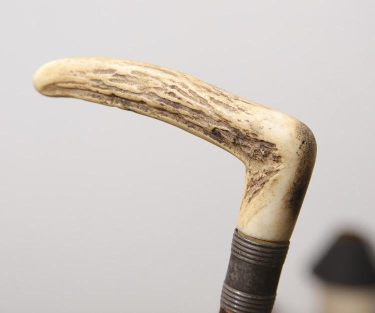 3 Carved And Briarwood Canes Walking Sticks