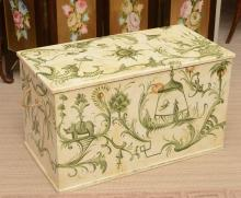 Bob Christian hand-painted Chinoiserie trunk