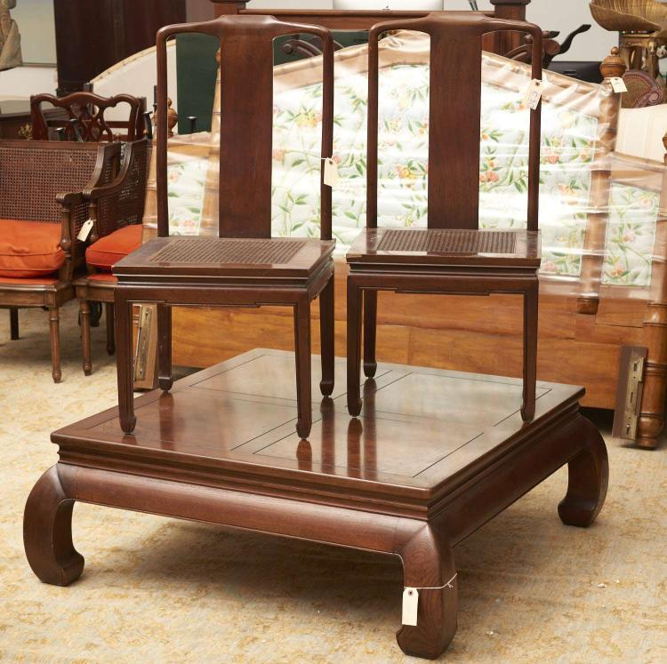 3 piece henredon asian style furniture group for Oriental style sofas