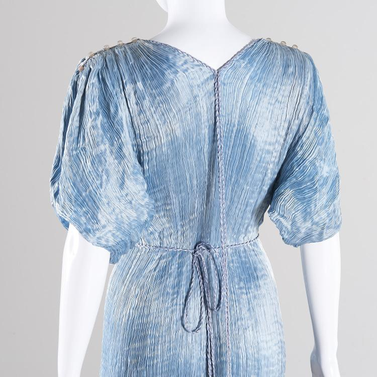 Mariano fortuny ice blue silk delphos gown - Fortuny real estate ...