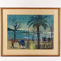 Hans Robert Pippal (1915-1995, Austrian), pastel