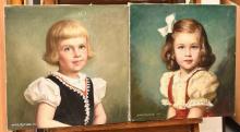 Louise Altson, (2) portrait paintings