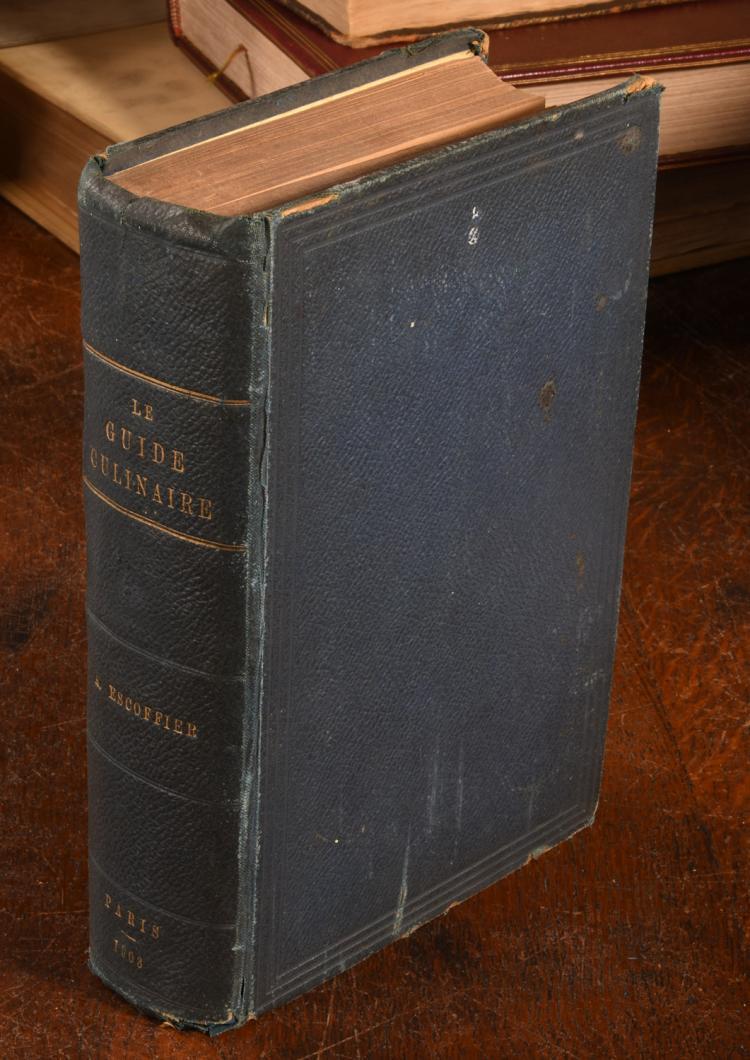 Books escoffier 1903 1st ed le guide culinaire for Auguste escoffier ma cuisine book