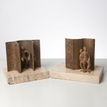 Ernest Bottomley, pair of sculptures, 1971