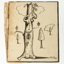 Vilhelm Bjerke-Petersen, Surreal ink drawing, 1935